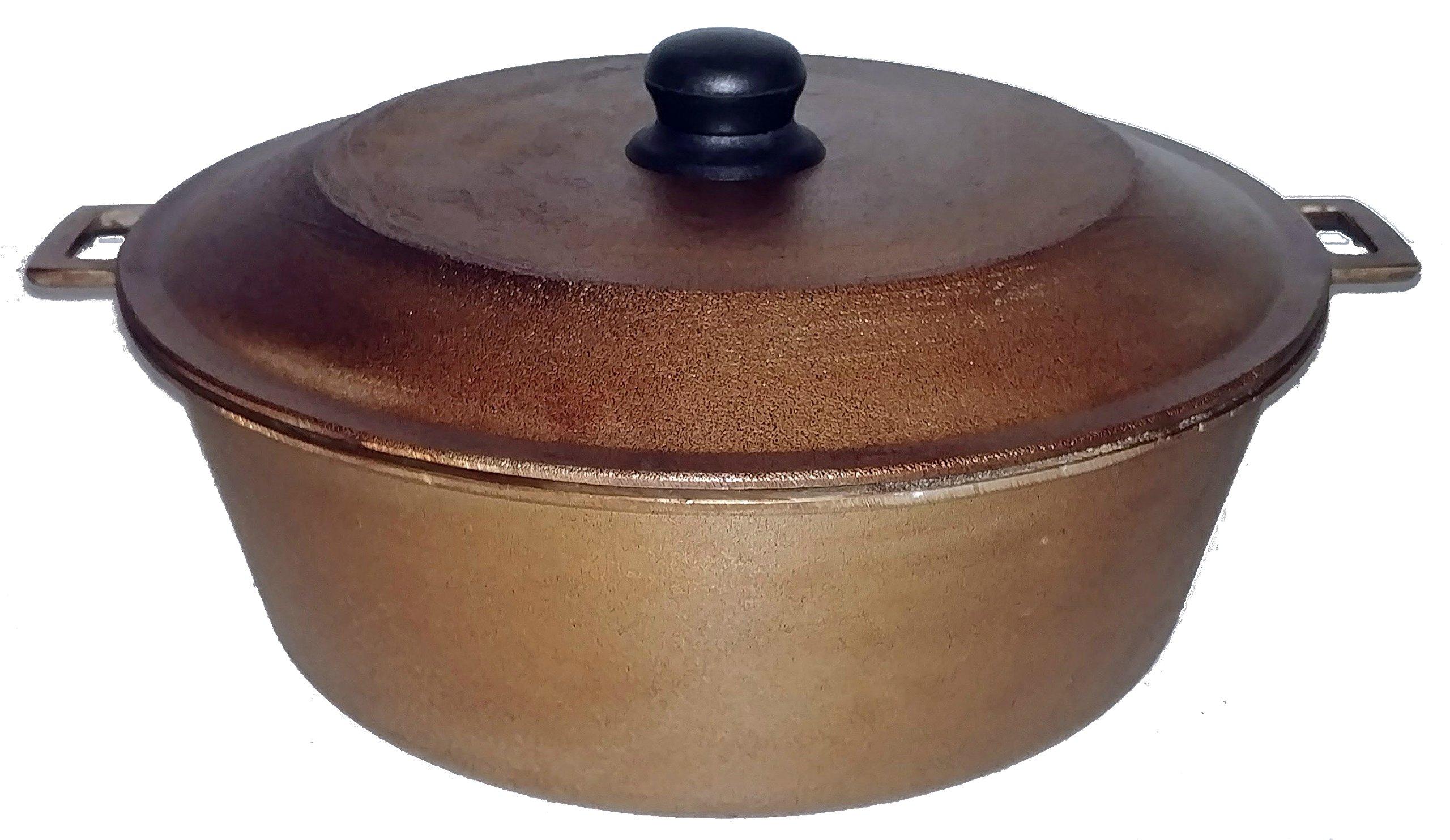 GauchogrillX Caldero Curado 14'' (36cm) 8 Quart (7,6lt) Dutch Oven Seasoned Rust Resistant Hecho en Venezuela