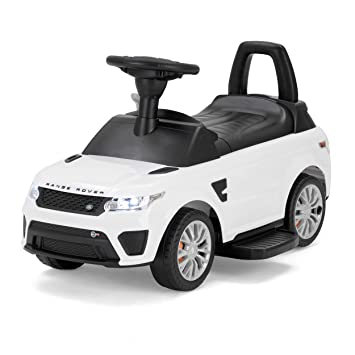 Range Rover Officially Licensed Sport Svr Kids Electric Ride On Car Sit And Go 2 In 1 Toy White