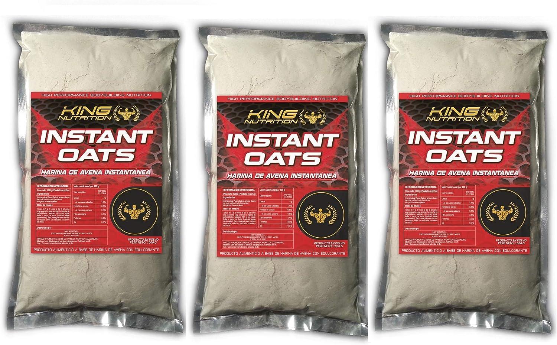 King Nutrition Instant Oats Suplemento Harina de avena 3kg Fresa ...