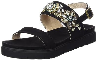 Sandalias de Plataforma Black Suede Leather Look Sandal Negro EU 39 La Strada g1oI8