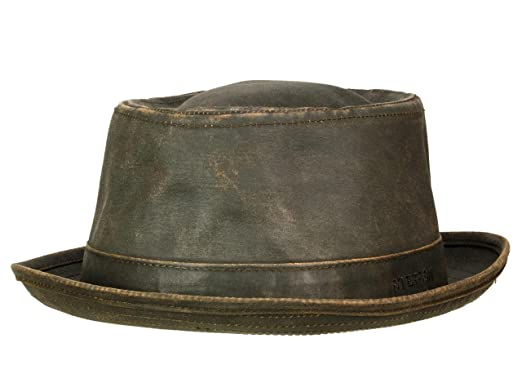 Stetson Odenton Pork Pie Cloth Hat for Women and Men Trilby Cotton hat with  Lining 42a9d49645a