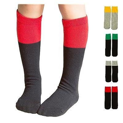 4 Pack Baby Girls Boys Toddler Mix-color Cotton Knee High Stockings Tube Socks