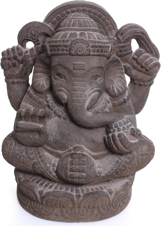40 cm Hindu Gottheit Figur Skulptur Statue Elefant-Kopf Lavasand NaRoom Ganesha Stein Gemisch ca