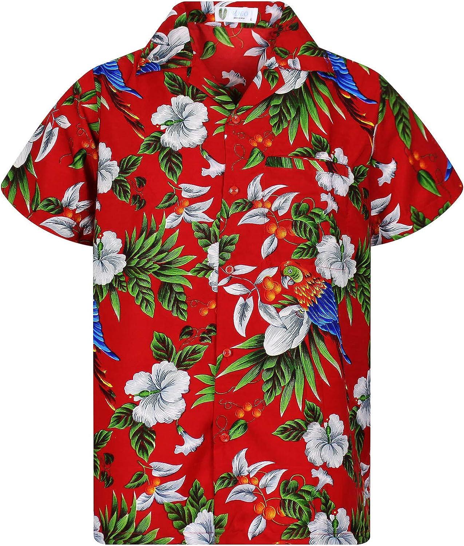 8xl Camicia Hawaii 100/% Cotone Camicia Hawaii HAWAI HAWAII SHIRT HAWAIANA S