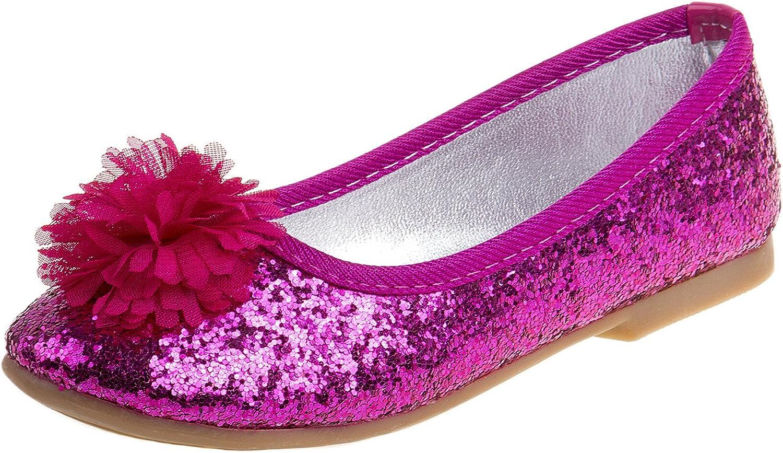 Girl/'s Dress Shoes Slip On Ballet Flat Glossy Color Fuchsia Black little kid siz