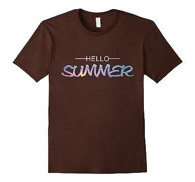 Mens Keep Calm And Hello Summer 2017 Sunshine And Beach T Shirt 2XL Brown