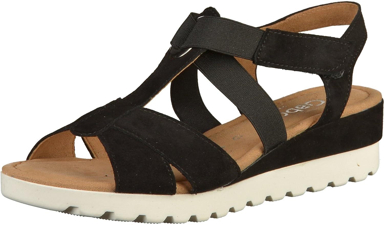 Gabor Comfort Sport Sandalette in Übergrößen Schwarz 82.754.47 große Damenschuhe Schwarz