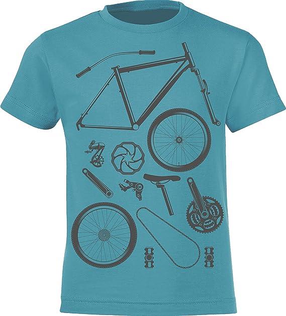 Camiseta de Bicileta: Bike Parts - T-Shirt para jóvenes Ciclistas ...
