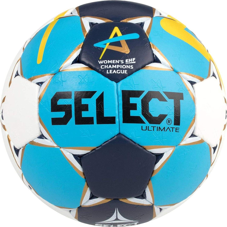 Select Ultimate Mujer cl Women de Balonmano, Color Azul Marina Oro Amarillo, 2