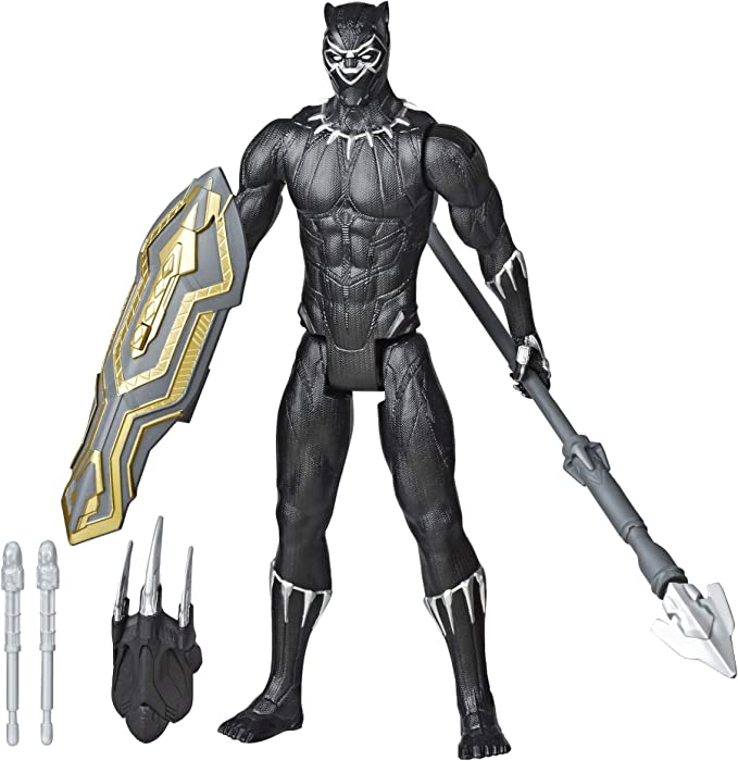 Amazon.com: Avengers Marvel Titan Hero Series Blast Gear Deluxe Black Panther Action Figure, 12-Inch Toy, Inspired by Marvel Comics, for Kids Ages 4 and Up: Toys & Games