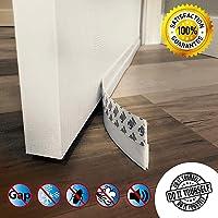 Door Draft Stopper Guard, Door Seal Sweeps for Interior Doors Gap Wind Blocker Strip Soundproof Under Door Bottom Seal Weather Stripping