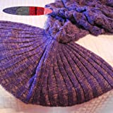 Amazon Price History for:Feiuruhf Handmade Mermaid Tail Blanket Soft Sofa Blanket (purple)