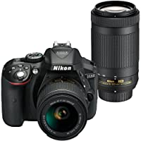 Nikon D5300 DSLR 24.2MP Camera w/18-55mm & 70-300mm Lens + Bag