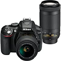 Nikon D5300 24.2MP Full HD 1080p Digital SLR Camera with 18-55mm & Lens 70-300mm - Refurbished