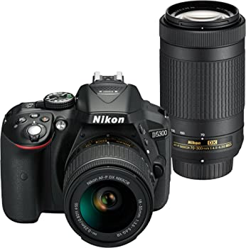 Refurb Nikon 24.2MP FHD DSLR Camera with 18-55mm & Lens 70-300mm