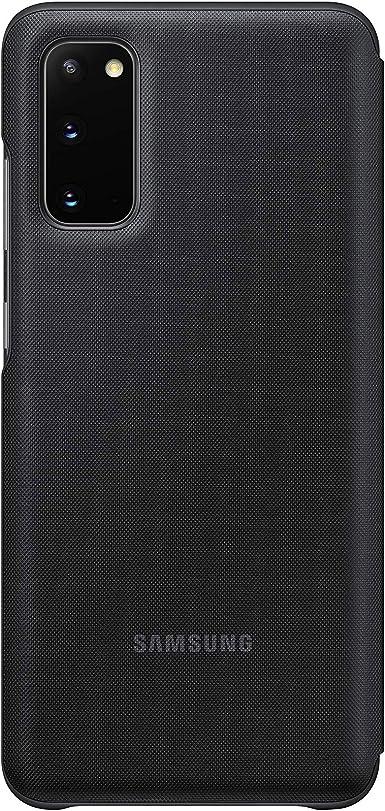 Samsung Led View Smartphone Cover Ef Ng980 Für Galaxy S20 S20 5g Handy Hülle Led Anzeige Kartenhalterung Schwarz Elektronik