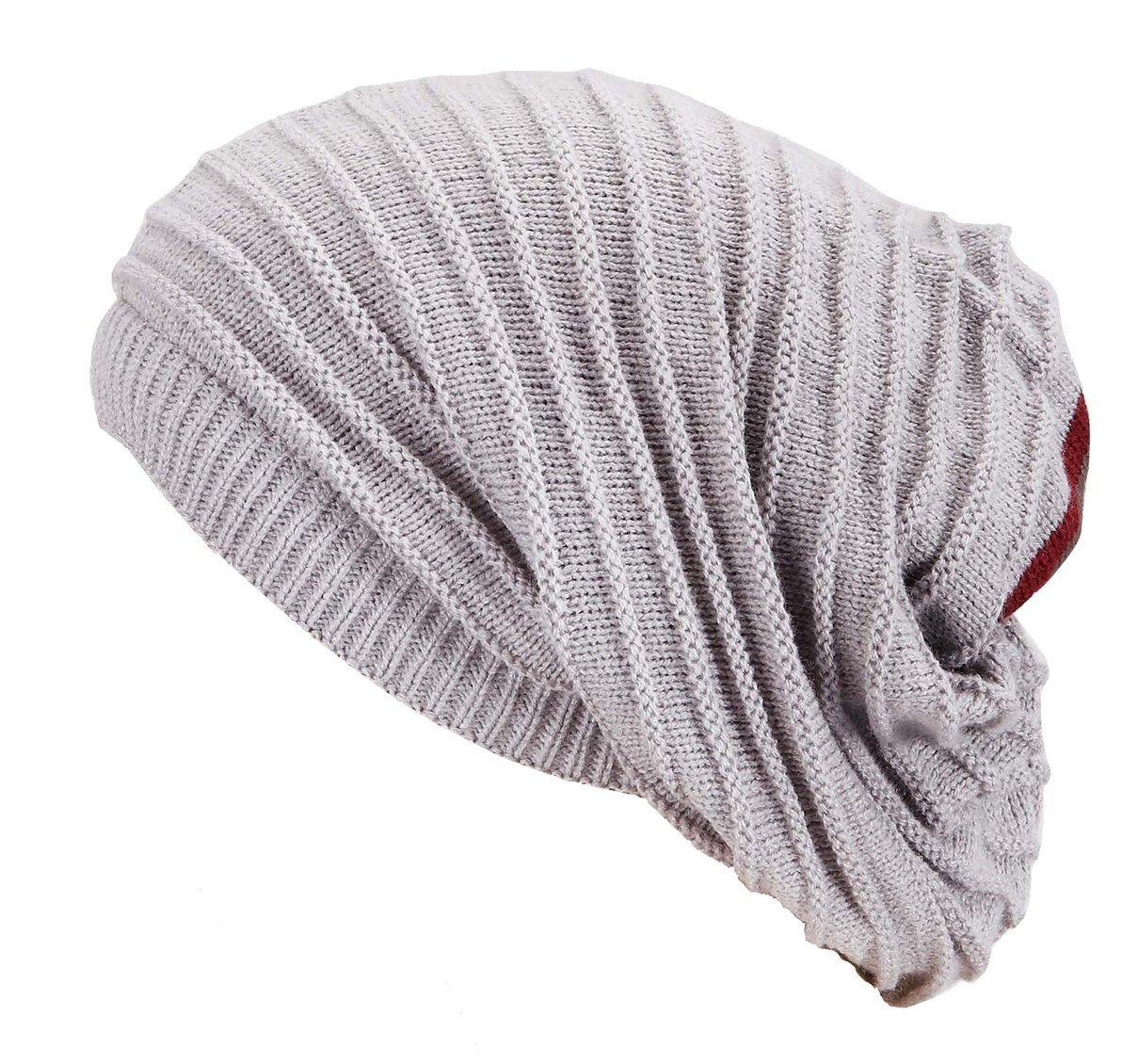 Manon Loop Scarf Buff et Bonnet long dans un - long cou surdimensionné Bonnet d'hiver bonnet de ski de snowboard oversize chaude écharpe de chapeau hommes et les femmes unisexe hiver Automne / Hiver 2013/14 (gris clair)