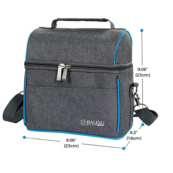 Amazon.com: LOVAC Insulated Lunch Bag for Adults Men Women, Large Thermal Bento Bag with Adjustable Shoulder Strap and Zipper, Water-Resistant Leakproof ...