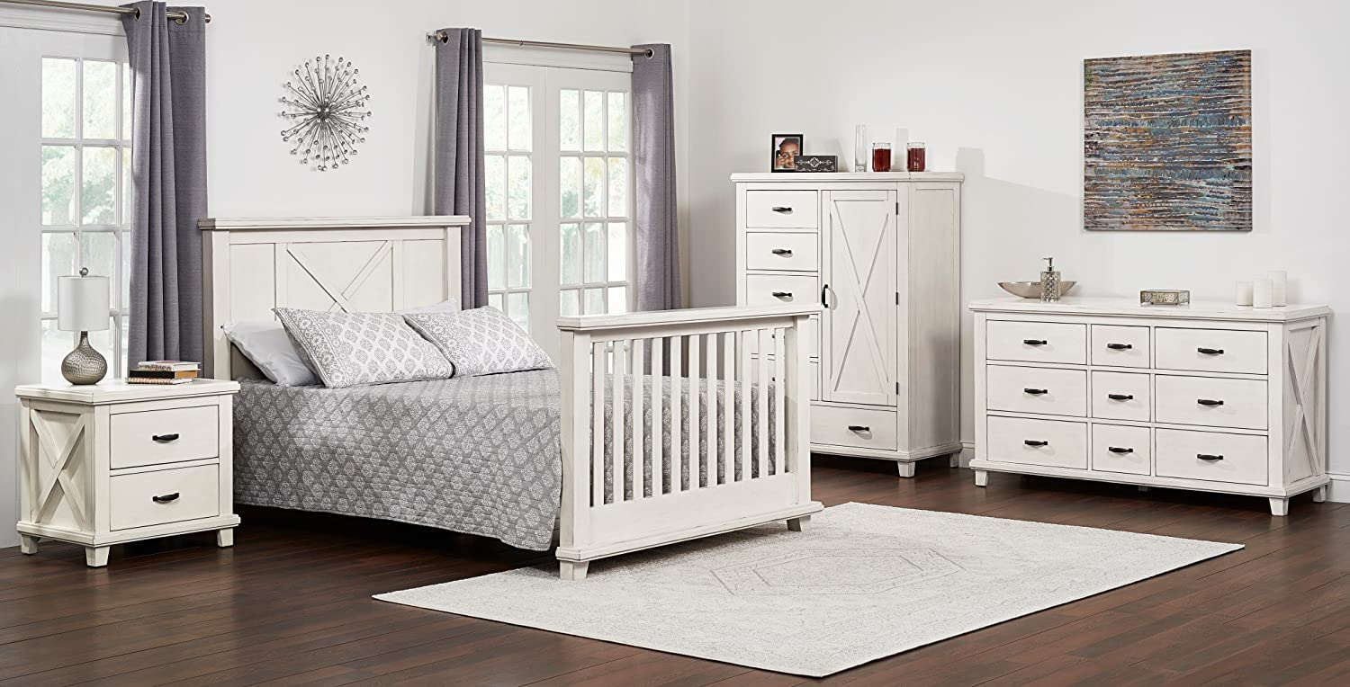 Full Size Conversion Kit Bed Rails for Oxford Baby Lexington Crib - Heirloom White 18088440