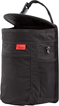 Lusso Gear Car Trash Can Large 2.5 Gallon Capacity with Trash Liner and Storage Pockets