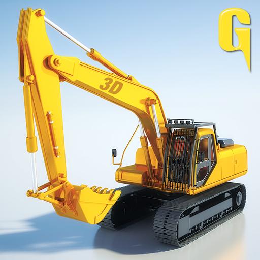 Sand Excavator Tractor 3D