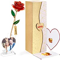 24K Gold Dipped Infinity Rose with 1 Love Picture Frame