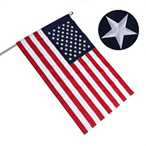 RossGoal 3x5 American Flag Pole Sleeve Style Heavyweight Nylon Banner US Flags Stitched Stripes, Embroidered Stars USA Flags for Outdoor Indoor Use (Pole NOT Included)