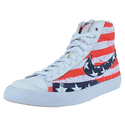 online store 9fc8c c8ed7 Nike Blazer mid 77 PRM VNTG Mens hi top Trainers 537327 Sneakers Shoes (UK  6.5 US 7.5 EU 40.5, White Midnight Navy University red 109)  Amazon.ca   Shoes   ...