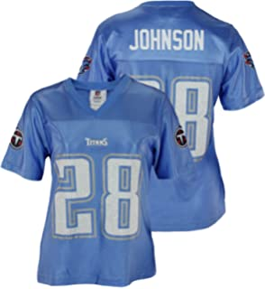 Womens NFL Tennessee Titans Chris Johnson #28 Dazzle Jersey, Light Blue