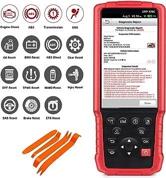 TPS /… Reinicio de Aceite IMMO EPB SAS Launch X431 CRP429C OBD2 Esc/áner ABS SRS TCM Eng BMS Codificaci/ón de inyectores Reinicio de TPMS Purga de ABS DPF