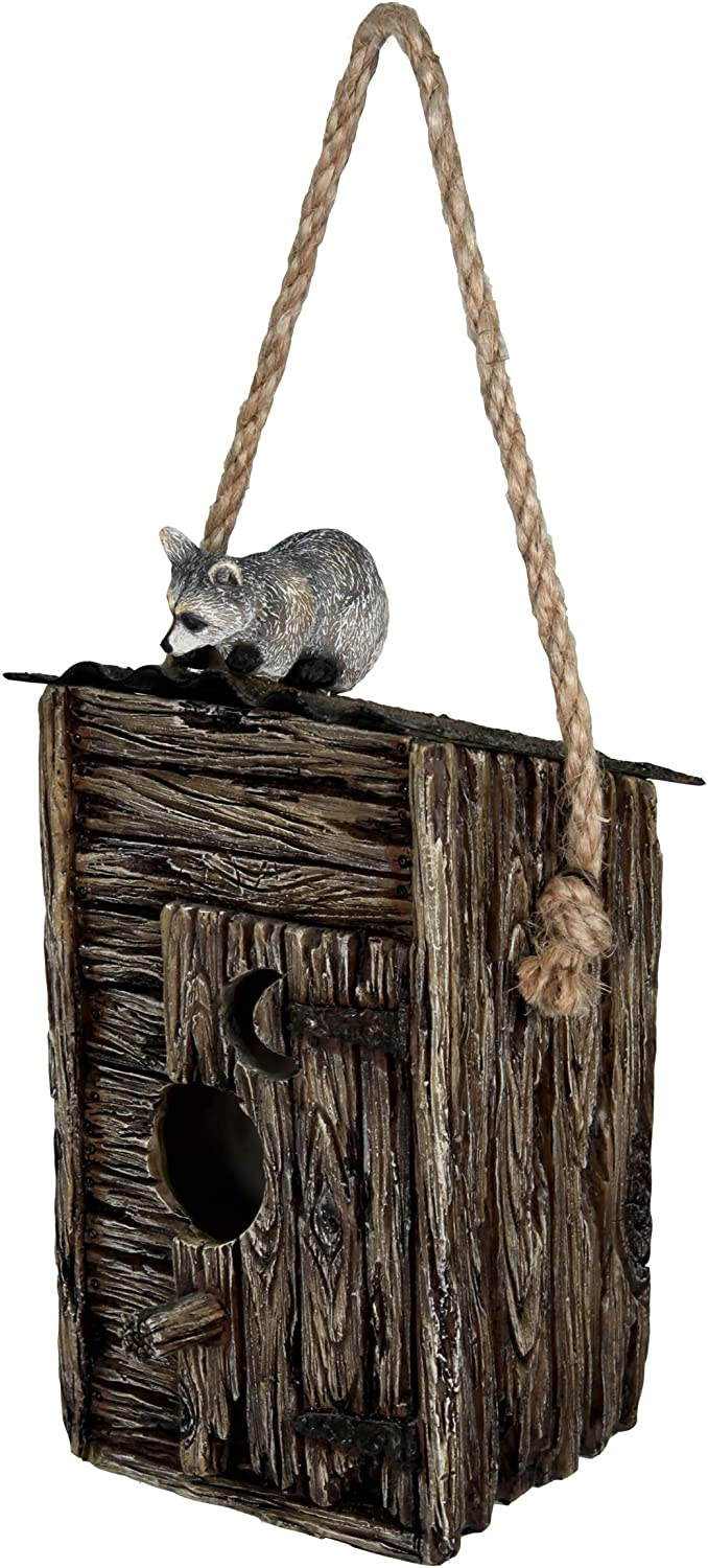 River's Edge Products Birdhouse - Outhouse/Raccoon