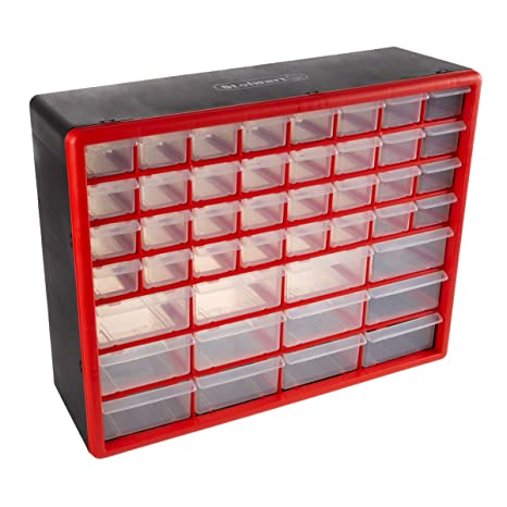 Amazon Com Storage Drawers 44 Compartment Organizer Desktop Or Wall