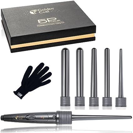Golden Curl 5P Sistema de Hierros Rizadores Profesional de Lujo con 5 Piezas - Excepcional Garantía