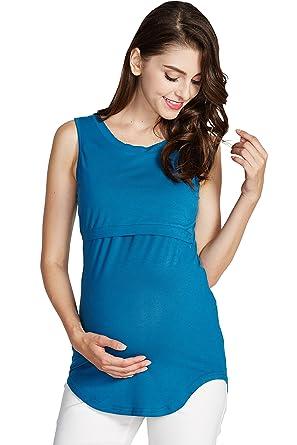94e64763ea35b Sweet Mommy Maternity and Nursing Rayon Bamboo Long Tank Top at ...