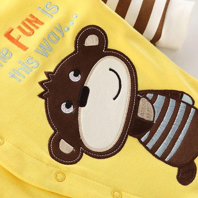 Yezelend Baby Strampler Jungen M/ädchen Schlafanzug Baumwolle Overalls S/äugling Spielanzug Baby-Nachtw/äsche