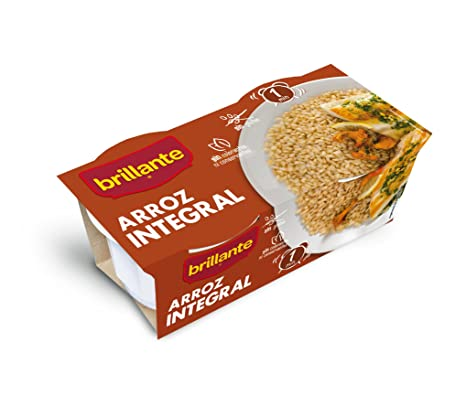 Brillante Arroz Integral - Pack de 2 x 125 g - Total: 250 g