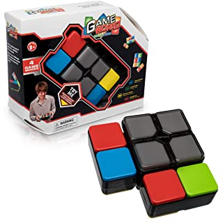 Magic Cube Memory Game for Kids - Electronic Memory Game for Kids Aged 5 and Up - 4 Games in 1 - Mind Game Helps Kids Develop Memory - Fun Mindfulness Games Help Kids and Adults Develop Mental Focus