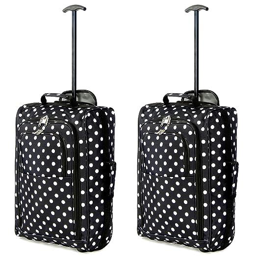 203 opinioni per Set di 2 bagaglio a mano trolley a due ruote leggero per Ryanair / Easyjet