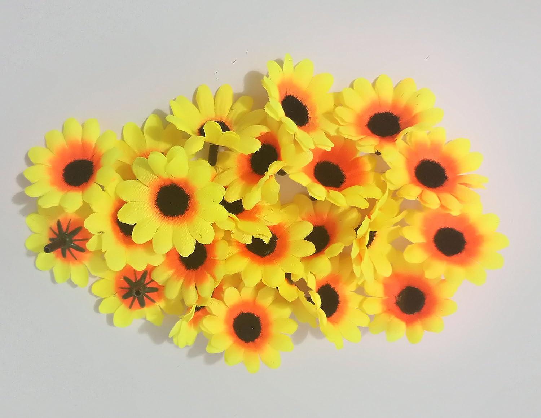 100pcs Artificial Flowers Wholesale Fake Flowers Heads Gerbera Daisy