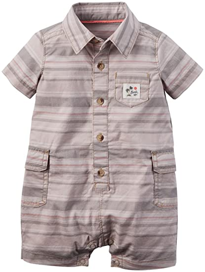 4a264076defcd Amazon.com: Carter's Baby Boys' Striped Cargo Romper: Clothing