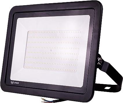 POPP® Foco Proyector LED 200W para uso Exterior Iluminación Decoración 6000K luz fria Impermeable IP65 Negro y Resistente al agua. (200): Amazon.es: Iluminación