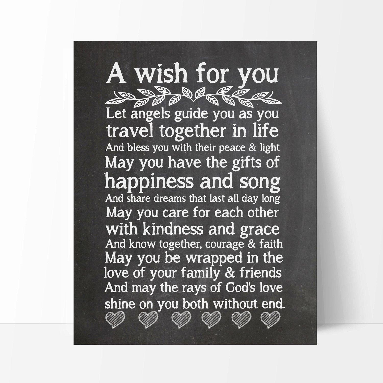 Wedding Verse Ocean Drop Photography /並/行/輸/入/品 Wedding Blessing Quote 11x14 Wedding Chalkboard Print Wedding Gift
