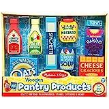 Melissa & Doug Wooden Pantry Products Play Food Set (9 pcs)
