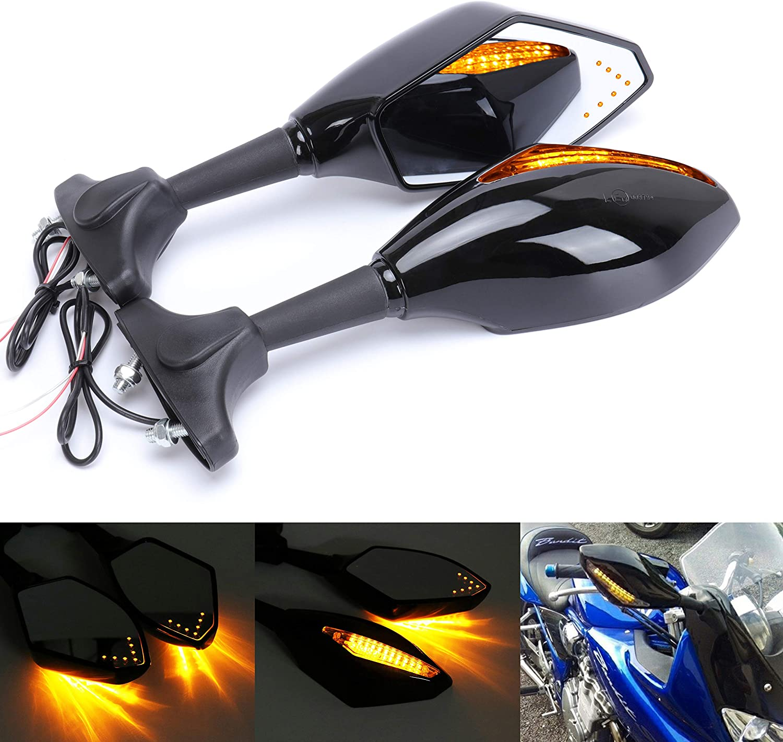 2009-2011 Smoke LED Turn Signals Intergrated Mirrors For Triumph Daytona 675