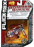 Flick Trix Toy - Die Cast Bomber Bikes - Redline Bike (Red, White and Blue)