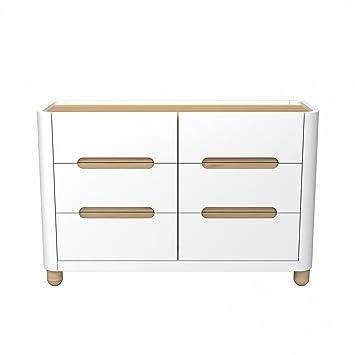 Amazon.com : Storkcraft Roland 6 Drawer Dresser, White/Natural, Kids ...