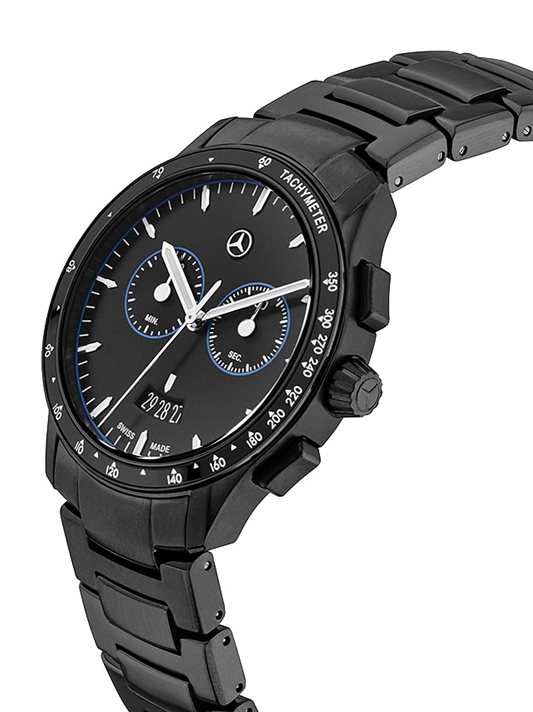 Mercedes-Benz - Armbanduhr - Chronograph Herren - Mercedes-Benz - Black Edition schwarz - blau - Edelstahl