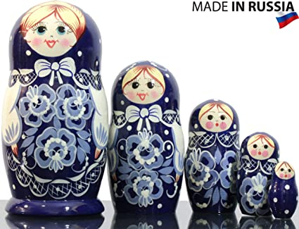 20 Pieces Cute Female Russian Nesting Doll Matryoshka Stacking Dolls Gift