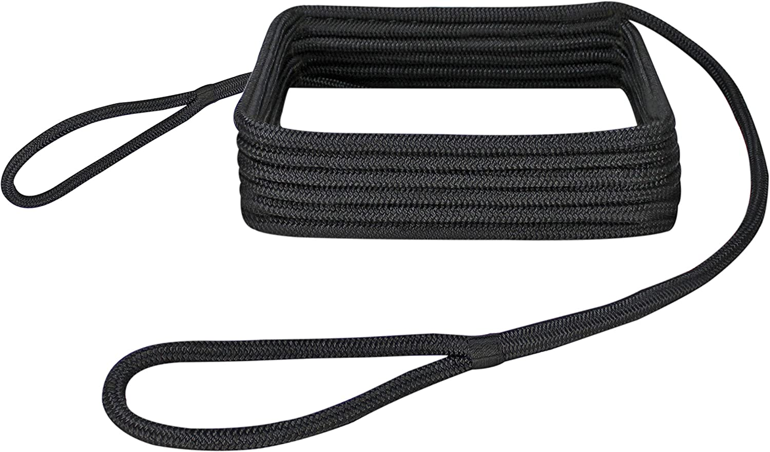 White /& Gold 5//8 x 40 Extreme Max 3006.2385 BoatTector Premium Double Looped Nylon Dock Line for Mooring Buoys
