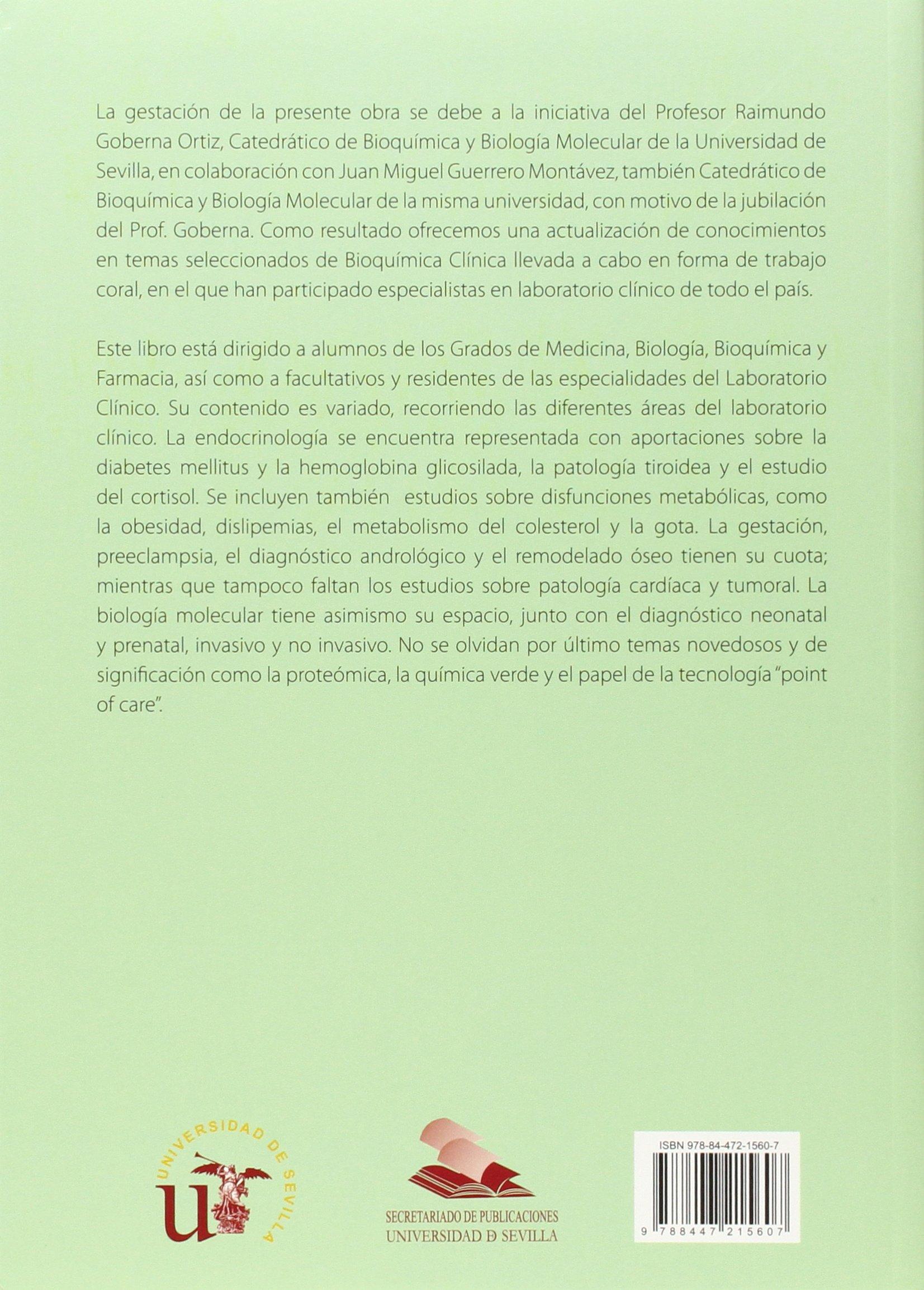 Actualizaciones en bioquímica clínica Ciencias de la Salud: Amazon.es: Raimundo Gobernaq: Libros